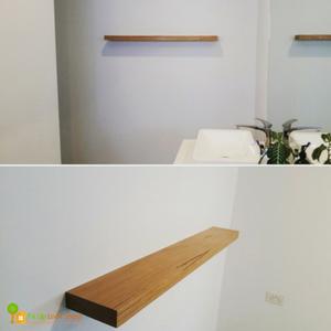 Bathroom Blackbutt floating shelf