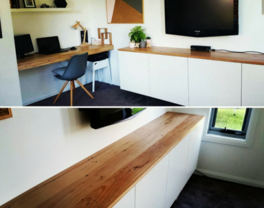 Recycled Messmate Timber top for a house in Geelong West