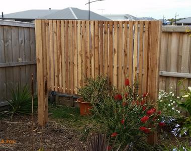 Bespoke timber garden screens