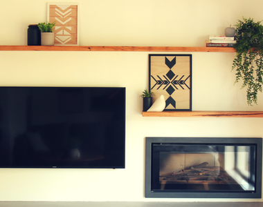 Recycled Messmate Living Room Floating Shelves