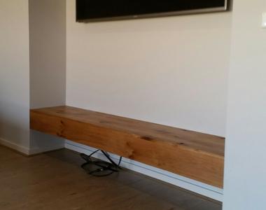 Floating American White Oak TV Bench