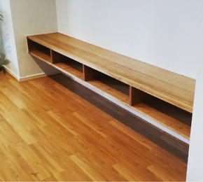 Recycled Messmate Floating Shelving Unit