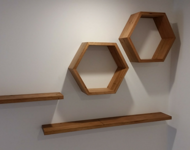 Hexagonal Wall boxes and Shelves